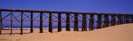 Footbridge on the beach