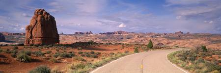 Road Courthouse Towers Arches National Park Moab