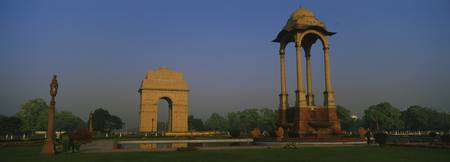Monument in the city India Gate New Delhi India
