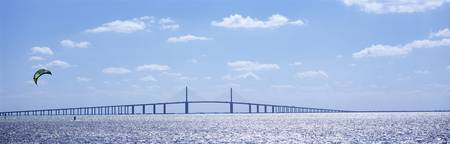 Bridge across a bay Sunshine Skyway Bridge Tampa
