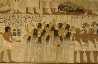Mural Depicting Female Servants Carrying the Rich