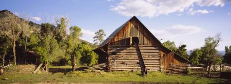 Exterior of a barn