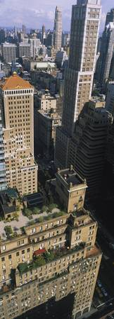 High angle view of buildings in a city