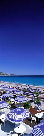 Beach Scene on French Riviera (Nice ) France