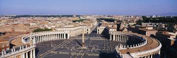 St. Peters Square And Vatican Rome Italy