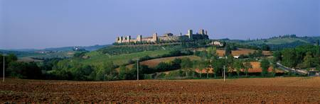 Walled Town of Monteriggoni Tuscany Italy