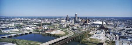 Aerial view of a city Indianapolis Marion County