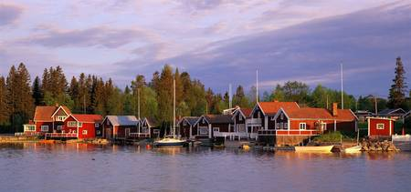 Archipelago Fishing village on Alnoen Sweden