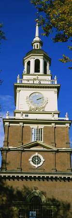 Low angle view of a clock tower