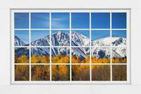Rocky Mountain Autumn High White Picture Window