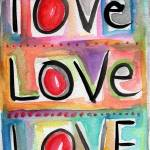 """""""Love Love Love"""" by lindawoods"""