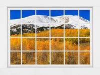 Colorado Rocky Mountain Autumn Pass White Window V