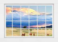 Horses On The Storm Large White Picture Window Fra