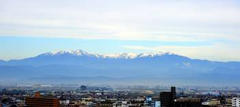 The 1st Snow on Fukushima Mountains