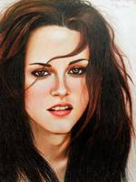Original Portrait Drawing of Kristen Stewart