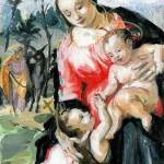 """Mary with Infant Jesus and John the Baptist"" by laudate"