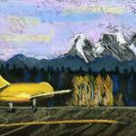 """little yellow plane, brnik, ljubljana"" by Lelia"