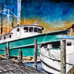 """shrimp boat painting art print"" by derekmccrea"