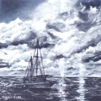 sail boat oil painting art print