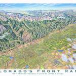 """Colorado Front Range"" by jamesniehuesmaps"