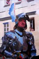 Knight In Full Armor During Parade