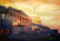 Golden United States Capitol In Washington D.C.