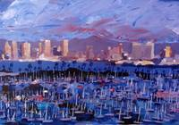 San Diego Skyline with Marina at Dusk