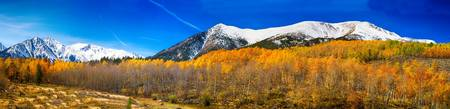 Rocky Mountain Independence Pass Autumn Pano