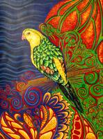 abstract parrot