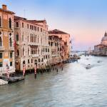 """Panoramic photo of Canal Grande at sunset"" by emporoslight"