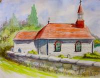 Tadoussac church, Quebec, Canada