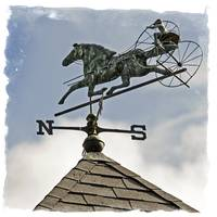 Jockey Weather Vane
