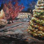 """The Pharr House, Christmas Town USA"" by amydonahuefineart"