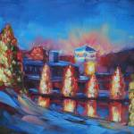 """The McAdenville Lake, Christmas Town USA"" by amydonahuefineart"