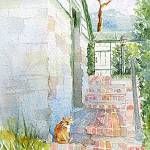 """Cat by the Springhouse Door"" by lindahaile"