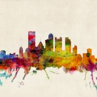 """Pittsburgh Pennsylvania Skyline"" by ModernArtPrints"