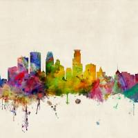 """Minneapolis Minnesota Skyline"" by ModernArtPrints"