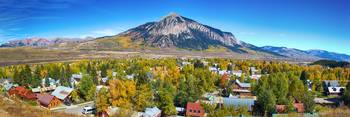 City of Crested Butte Colorado Panorama