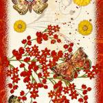 """Autumn Moth Musings Folk Art"" by ReneeLozenGraphics"