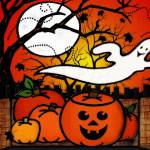 """Ghostie Whimsical Halloween Folk Art"" by ReneeLozenGraphics"