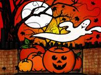Ghostie Whimsical Halloween Folk Art
