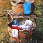 """LAUNDRY DAY BLUES - SOUTHERN FOLK ART"" by kiphayes"