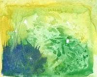 Green Watercolor Abstract