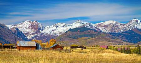 Crested Butte Autumn Landscape Panorama