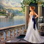 """Lady overlooking lake Como Italy"" by Unique_designs"