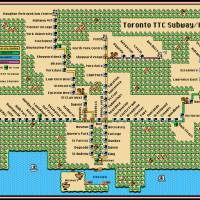 Updated Toronto TTC Subway/RT Map: SMB3 Style Art Prints & Posters by Dave Delisle