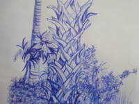 Blue Ink Palms