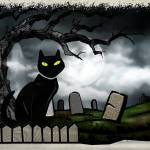 """Hallows Graveyard Folk Art"" by ReneeLozenGraphics"