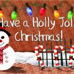 """Holly Jolly Snowman Christmas Decor"" by ReneeLozenGraphics"