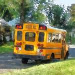 """Parked School Bus"" by susansartgallery"